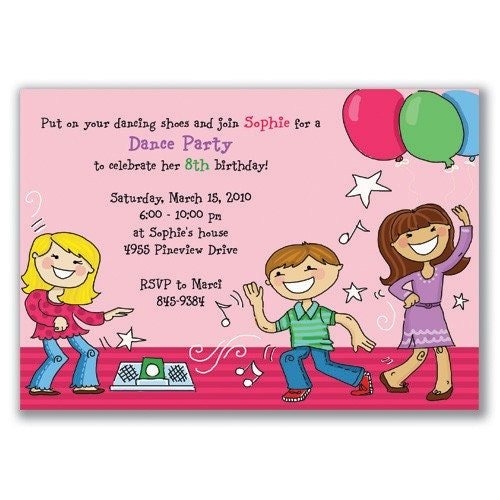 8th Birthday Invitation Templates | Almsignatureevents.com