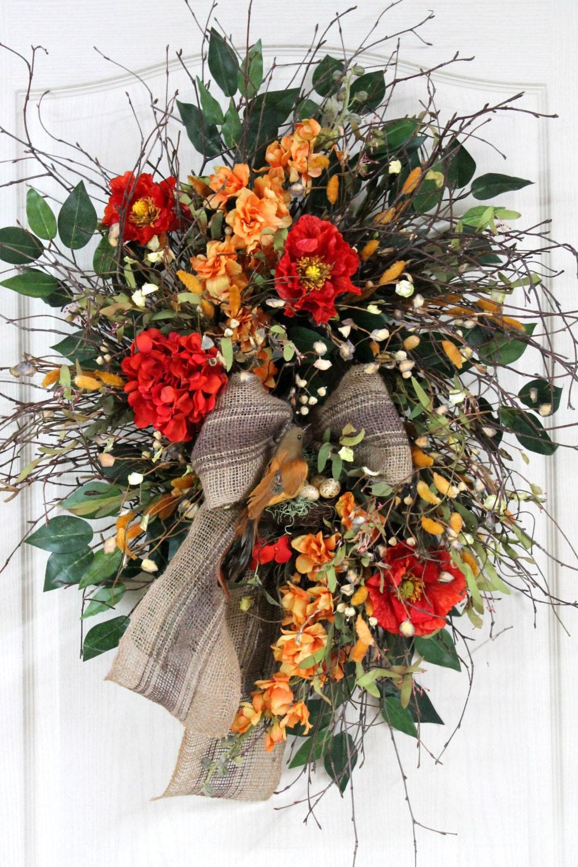 Similar to front door wreath spring country wreath summer wreath