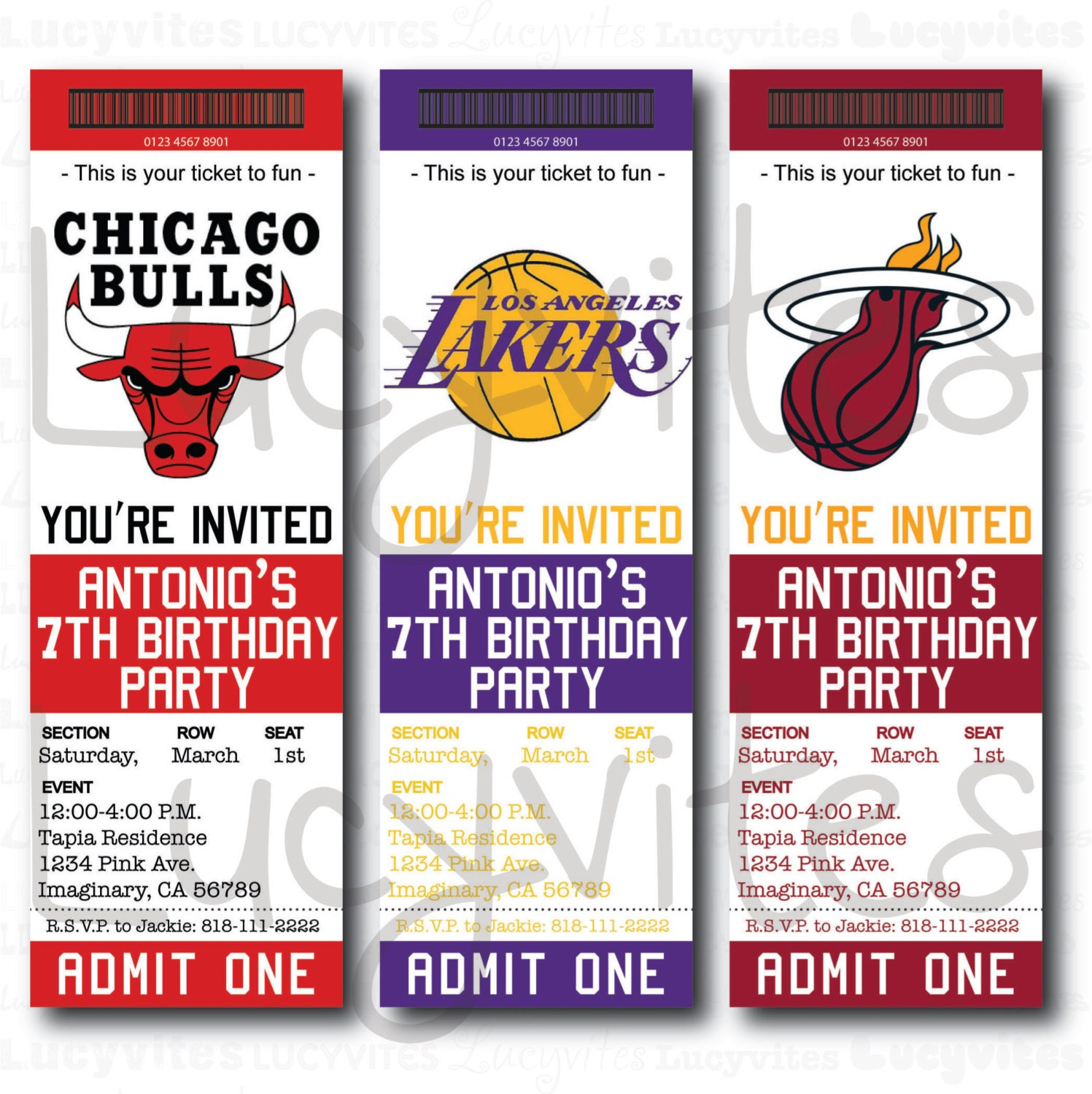 Ticket Stub Party Invitation Template – Invitation Ticket Template