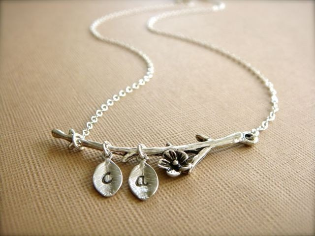 Silver Branch From Your Family Tree - Personalized Necklace