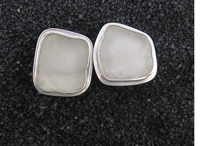 Pure Beach Glass Cufflinks