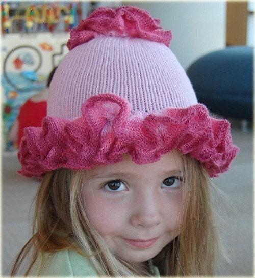Josies Ruffles - PDF Knitted Hat Pattern