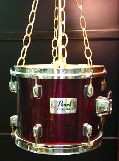 Items Similar To Hanging Light Fixture Upcycled Using Drum