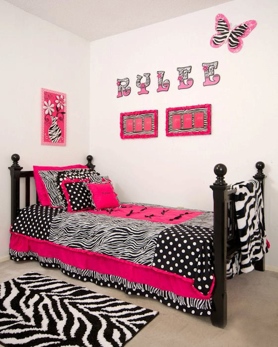 custom made twin hot pink zebra bedding sets by bedbugscreations