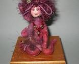 Celestial FAIRY, fiber sculpted fantasy figure on wooden trinket box