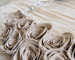 Linen Roses Bib Handmade Clay Necklace
