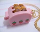 Kawaii Pink Toaster Necklace