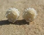 Vintage Ivory Rose Earrings