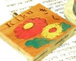 Vintage Japanese Chrysanthemum Game Tile PENDANT - Upcycled Gaming Tile - Kiku - Flowers - Floral