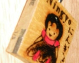 Ningyo - Vintage Japanese DOLL PENDANT upcycled Game Tile with Silver Bale