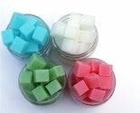 MEDIUM jar - Choose your own Scent -Dyed or Undyed -Shea Butter Soap Bits - 98 percent natural wipe cubes
