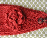 Thick Burnt Orange Knit Flower Headband. Can also be worn as a Neckwarmer Buy 2 and SAVE