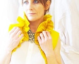 Sunflower Yellow Ruffled Silk Carina Bolero