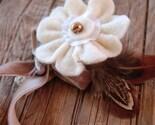 felt flower boutoniere
