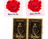 138 - Shall I Compare There (Calligraphed valentine with vintage  postage)