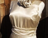 Old Hollywood Glamour in Champagne-Colored Satin - Size 10
