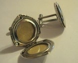 Photo Cufflinks Silver Locket - vintage