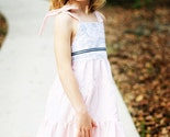 French  Toile in Pink... Handmade Eco Tiered Sundress 12M 18M 2T 3T 4T 5 6