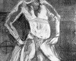 Tribal Dancer. Large Original Life Drawing Monoprint