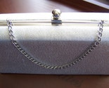 Vintage Sparkling Silver Clutch Purse Formal-Wedding-Prom
