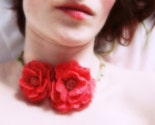 Oli Felt  Flower Necklace-Hand Felted in French Pink