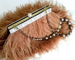 Grace Couture - Brown Ostrich Feather Purse with Swarovski Crystal Trim -ONE OF A KIND