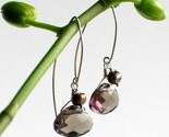 Rich Taupe Glass and Pearl earrings