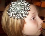 4inch Zebra Flower Alligator Clip -- Great with matching crochet headband, also matches our zebra tutus