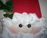 Jolly Santa Soft Sculpture Door Hanger