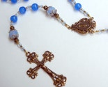 Sapphire Birthstone Rosary with bronze