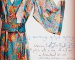 Kimono Style Robe.  Knee Length.  Darling Jardin Bleu.