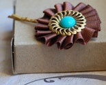 Chocolate and turquoise Hair Pin
