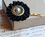 Silver and Black Vintage Hair Pin