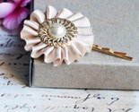 Wheat and Ivory Pearled -  hair pin