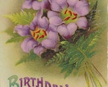 Vintage Birthday Post Card Early 1900s bd015