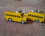 Schools Out Yellow School Bus Cuff Links