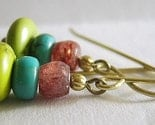 Isla Turquoise and Sunstone Earrings