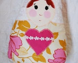 Immaculate Heart of Mary Pillow Doll made from Amy Butler Tree Peony