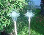 GLASS  TIKI TORCH, BIRD FEEDER or GARDEN ART
