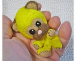 Chibi Chibitude Hand                                             made Felted and Stuffed Mini                                             Bear Kuma Critter Cutie