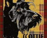 SCOTTIE DOG ART PRINT  Black Scottish Terrier CUTE POOCH Plaid Signed POSTER 8 1/2 X 11