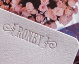 REINKED and RECYCLED - Custom Wedding Waste - LETTERPRESS - Flat Stationery Set of 50