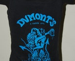 Vintage 1986s Dumonts bar tavern biker babe black tank top devil woman photo 1