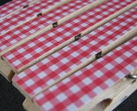Set of 6 - Trendy Decoupaged Clothespin Clips - Red and White Picnic Gingham