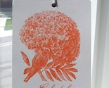 Vintage flowers - Gocco screen printed tags - FEATURED on CANADIAN HOME and  COUNTRY