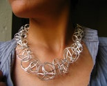 Large Spheres KNOTS collier Necklace, 925 Silver