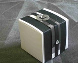 5 Black and Gray Favor Boxes