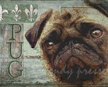 CUTE PUG DOG PRINT English French BULL DOG PORTRAIT POSTER Fun Art SIGNED DOG PICTURE