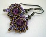 Amethyst Copper Earrings