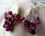 Pink Sapphires Keishi pearl earrings